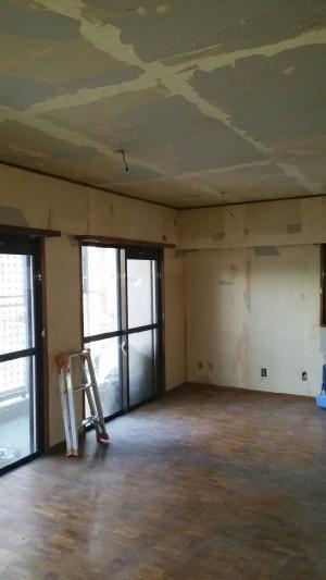 床と壁のリフォーム 施工前