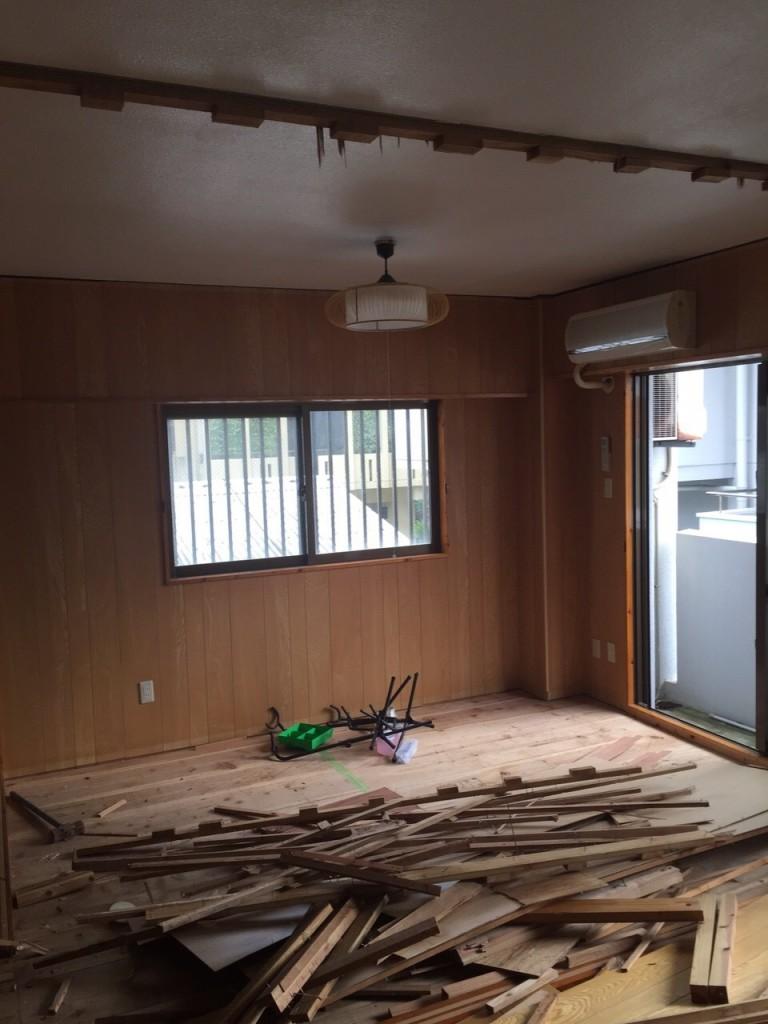 2世帯住宅 リフォーム施工前の現場1