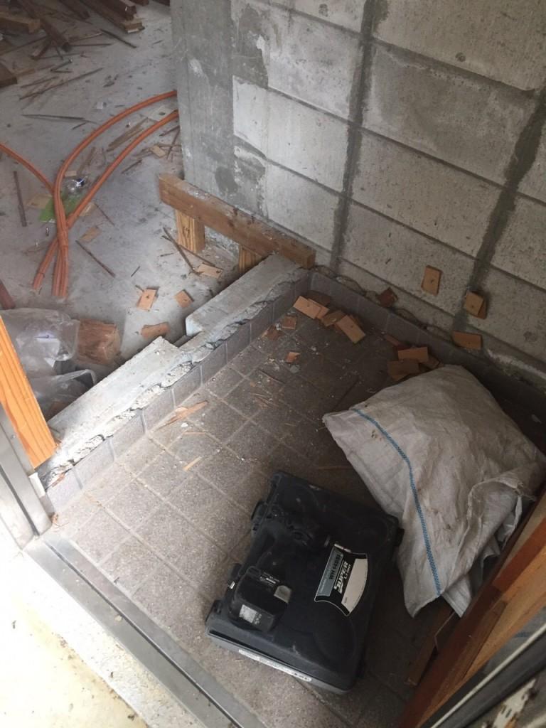 2世帯住宅 リフォーム施工前の現場4