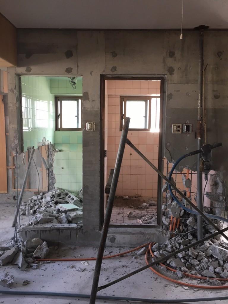 2世帯住宅 リフォーム施工前の現場5