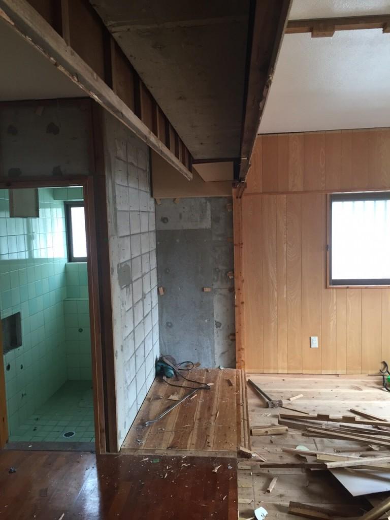 2世帯住宅 リフォーム施工前の現場3