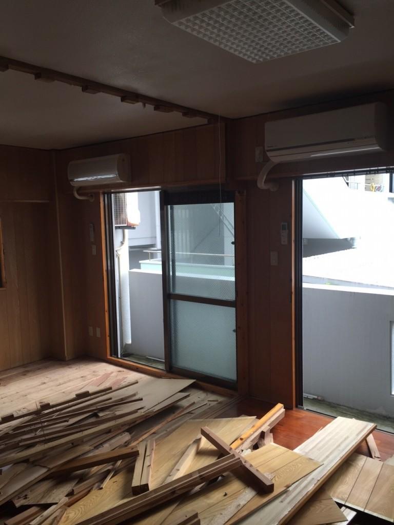 2世帯住宅 リフォーム施工前の現場2