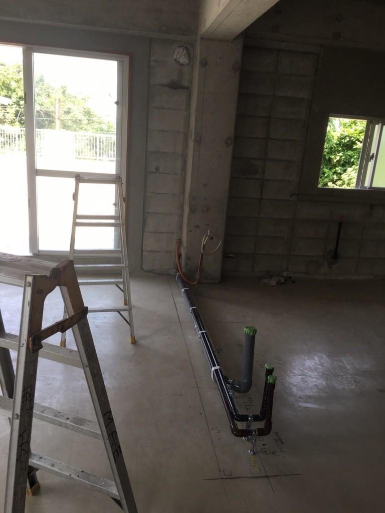 沖縄の増築、現場写真9