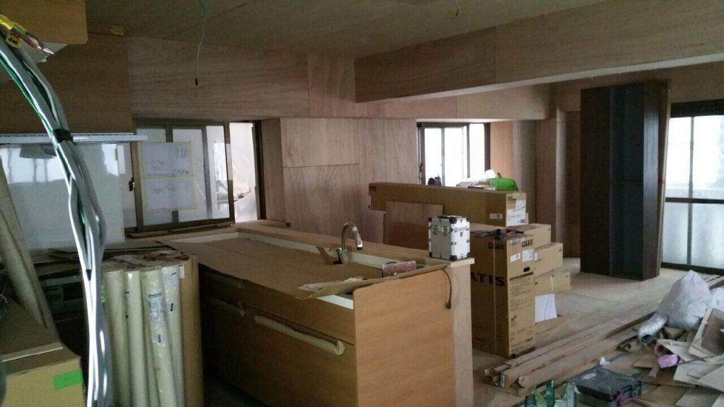 2世帯住宅キッチン リフォーム施工前1