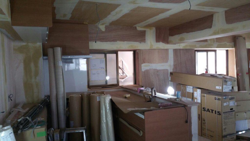 2世帯住宅キッチン リフォーム施工前2