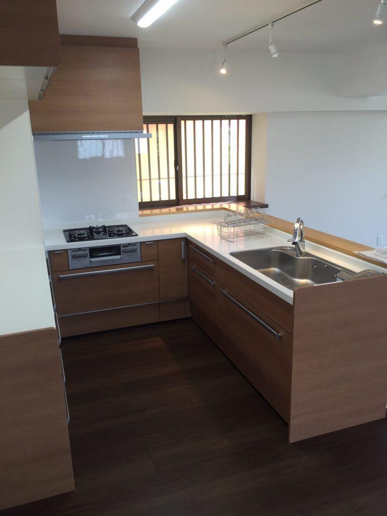 2世帯住宅キッチン リフォーム施工後1