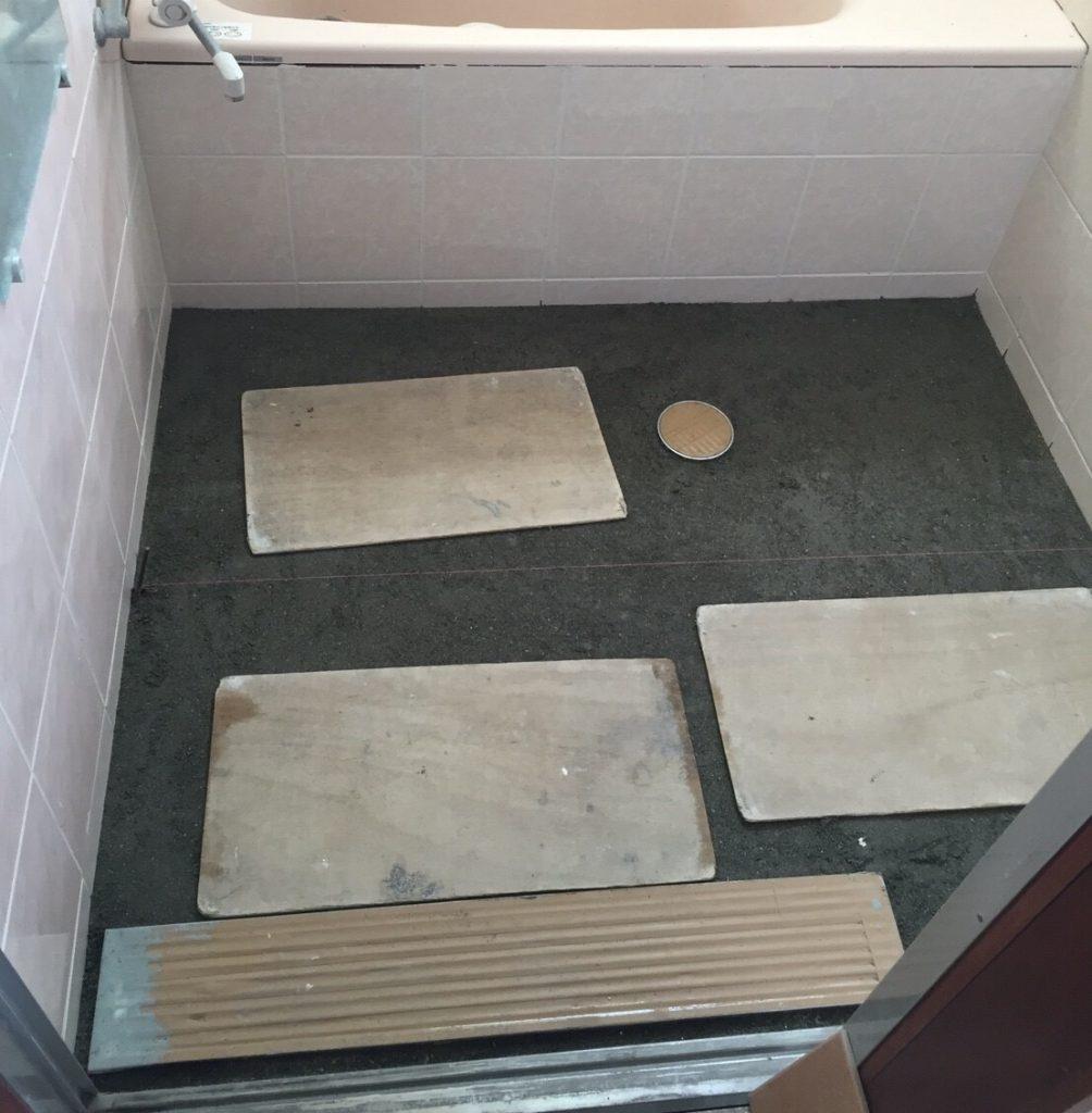 浴室のリフォーム 施工中②