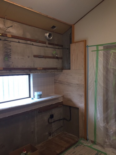 キッチンのリフォーム 施工中