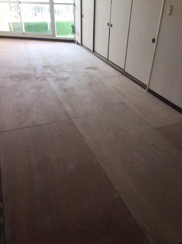 床のリフォーム 施工中2